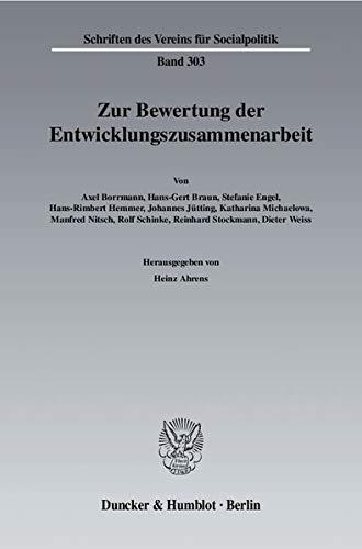 Zur Bewertung der Entwicklungszusammenarbeit: Heinz Ahrens