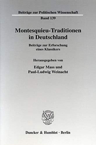 Montesquieu-Traditionen in Deutschland: Edgar Mass