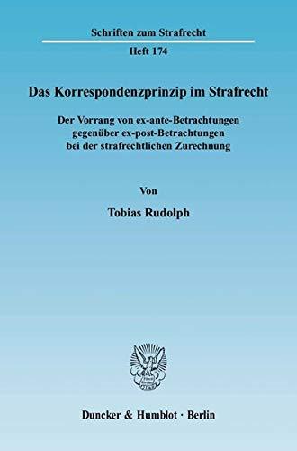 Das Korrespondenzprinzip im Strafrecht: Tobias Rudolph
