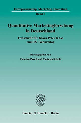 Quantitative Marketingforschung in Deutschland: Thorsten Posselt