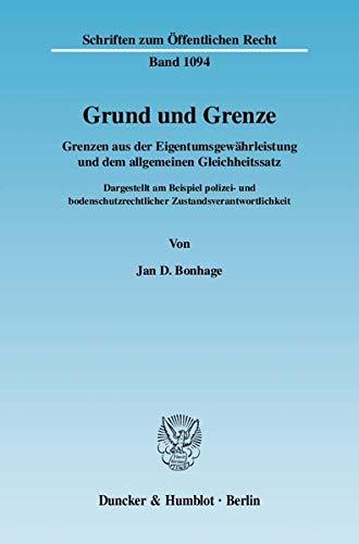 Grund und Grenze.: Jan D. Bonhage