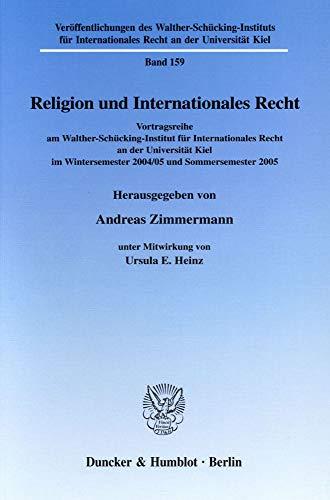 Religion und Internationales Recht: Andreas Zimmermann