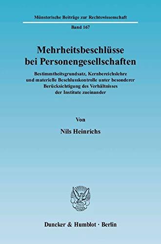 Mehrheitsbeschlüsse bei Personengesellschaften: Nils Heinrichs