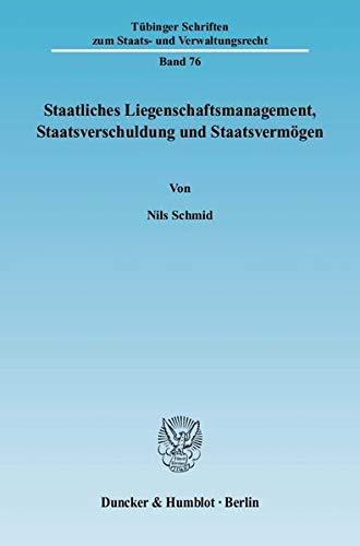 Staatliches Liegenschaftsmanagement, Staatsverschuldung und Staatsvermögen: Nils Schmid