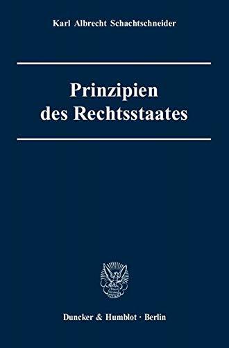 9783428122066: Prinzipien des Rechtsstaates