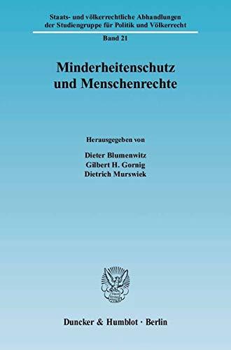 Minderheitenschutz und Menschenrechte: Dieter Blumenwitz