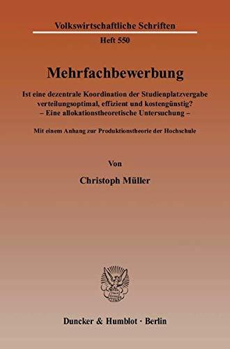 Mehrfachbewerbung: Christoph Müller