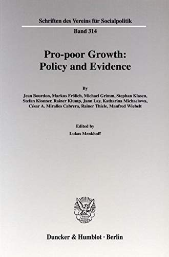 Pro-Poor Growth: Policy and Evidence: Lukas Menkhoff