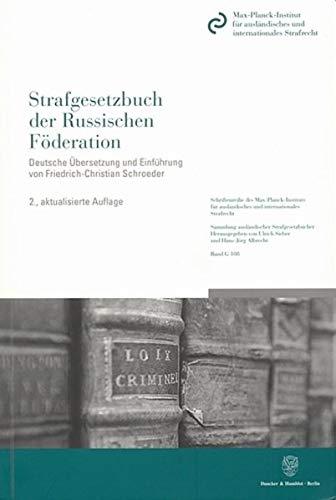 Strafgesetzbuch der Russischen Föderation: Friedrich-Christian Schroeder