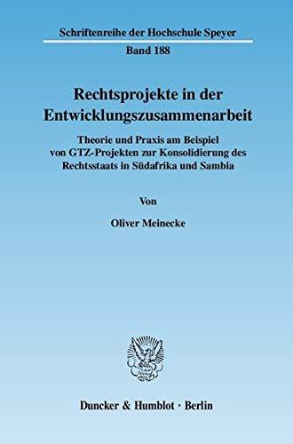 Rechtsprojekte in der Entwicklungszusammenarbeit: Oliver Meinecke