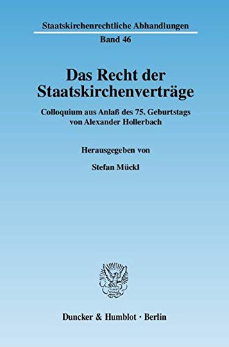Das Recht der Staatskirchenverträge: Stefan Mückl