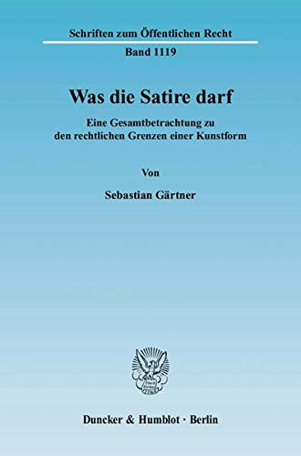 Was die Satire darf: Sebastian G�rtner