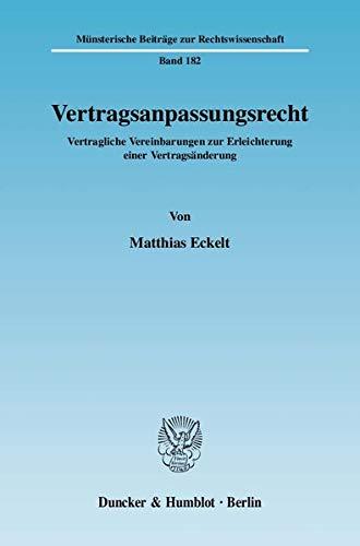 Vertragsanpassungsrecht: Matthias Eckelt