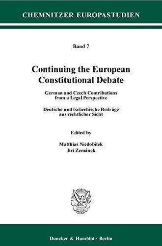 Continuing the European Constitutional Debate: Matthias Niedobitek