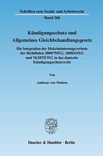 Kündigungsschutz und Allgemeines Gleichbehandlungsgesetz: Andreas von Medem