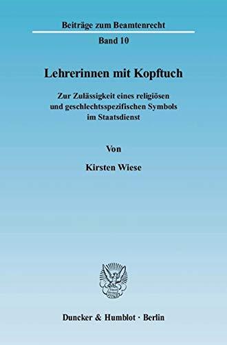 Lehrerinnen mit Kopftuch: Kirsten Wiese
