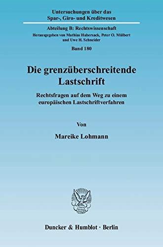 Die grenzüberschreitende Lastschrift: Mareike Lohmann