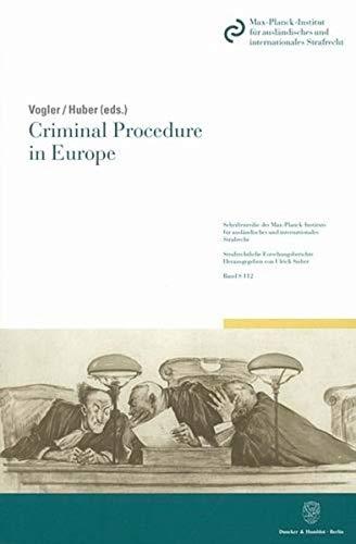 Criminal Procedure in Europe.: Richard Vogler