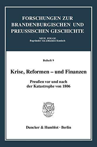 Krise, Reformen - und Finanzen.: Jürgen Kloosterhuis
