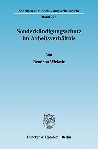 Sonderkündigungsschutz im Arbeitsverhältnis: René von Wickede