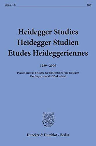 Heidegger Studies / Heidegger Studien / Etudes Heideggeriennes.: Parvis Emad