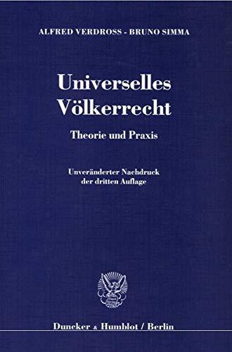 9783428132966: Universelles Völkerrecht