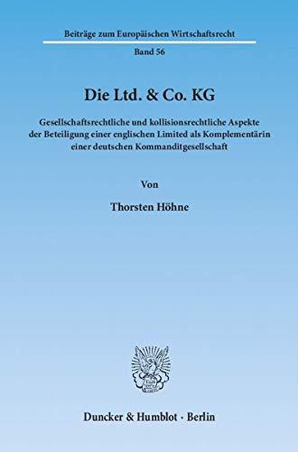 Die Ltd. & Co. KG: Thorsten H�hne