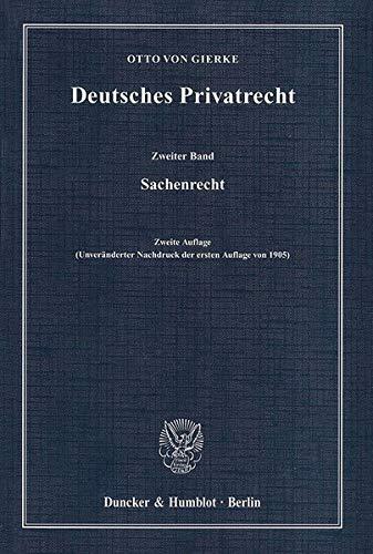 Deutsches Privatrecht 2: Sachenrecht