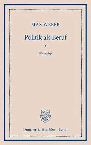 9783428134793: Politik als Beruf