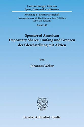 Sponsored American Depositary Shares: Umfang und Grenzen der Gleichstellung mit Aktien: Johannes ...