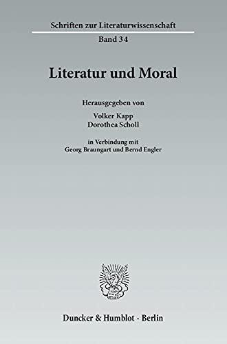 Literatur und Moral: Volker Kapp