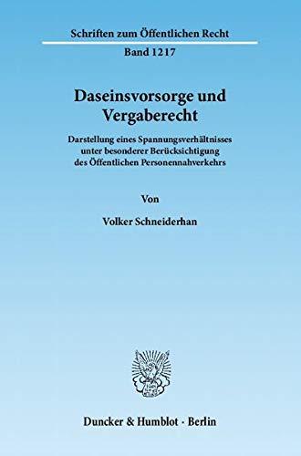 Daseinsvorsorge und Vergaberecht: Volker Schneiderhan