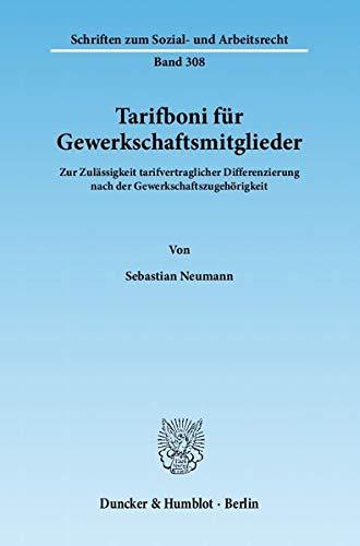 Tarifboni für Gewerkschaftsmitglieder: Sebastian Neumann