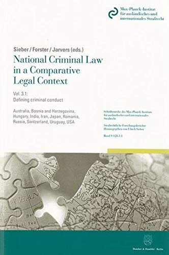 9783428138296: National Criminal Law in a Comparative Legal Context. Vol. 3.1.