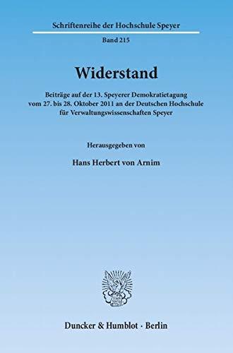 Widerstand: Hans Herbert von Arnim