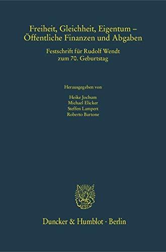 Freiheit, Gleichheit, Eigentum - Öffentliche Finanzen und Abgaben: Heike Jochum