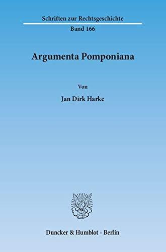 Argumenta Pomponiana: Jan Dirk Harke