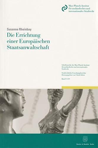 9783428143658: Die Errichtung einer Europäischen Staatsanwaltschaft