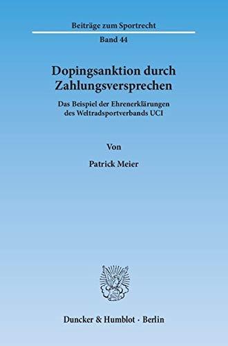 Dopingsanktion durch Zahlungsversprechen: Patrick Meier