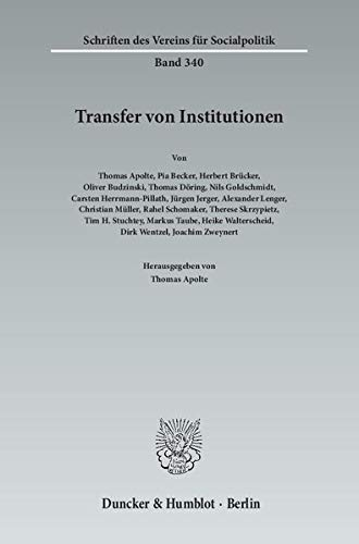 Transfer von Institutionen.: Thomas Apolte