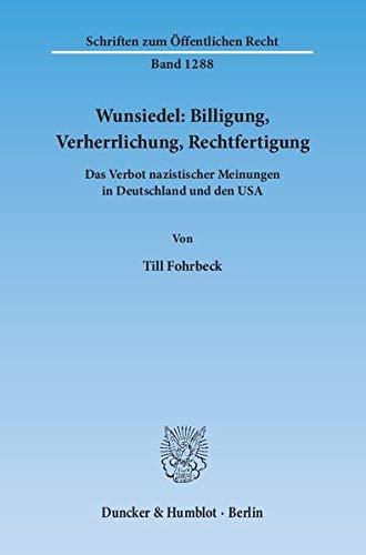 Wunsiedel: Billigung, Verherrlichung, Rechtfertigung: Till Fohrbeck