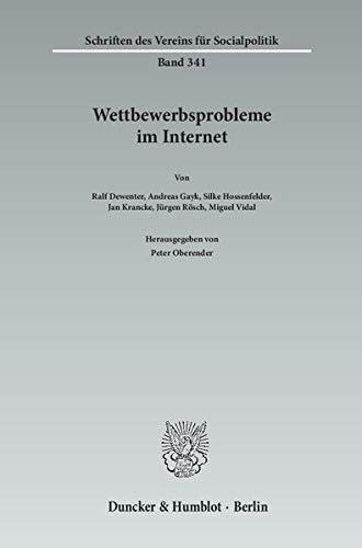 Wettbewerbsprobleme im Internet.: Peter Oberender