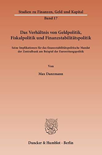 Das Verhältnis von Geldpolitik, Fiskalpolitik und Finanzstabilitätspolitik: Max Danzmann