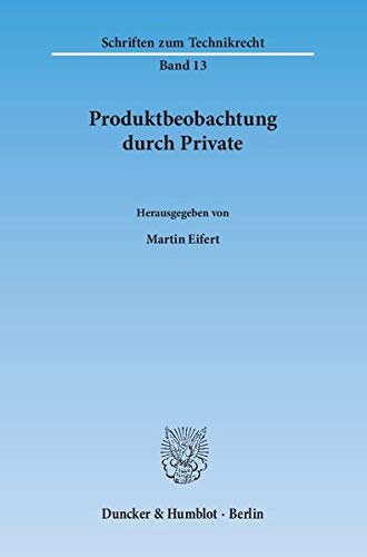 9783428147182: Produktbeobachtung durch Private.