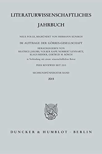 Literaturwissenschaftliches Jahrbuch 56. Band (2015): Béatrice Jakobs