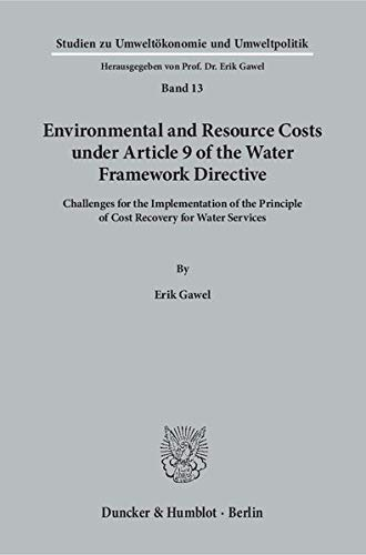 9783428147595: Environmental and Resource Costs under Article 9 of the Water Framework Directive.