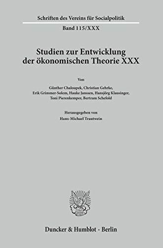 Die Zeit um den Ersten Weltkrieg als Krisenzeit der Ökonomen.: Hans-Michael Trautwein