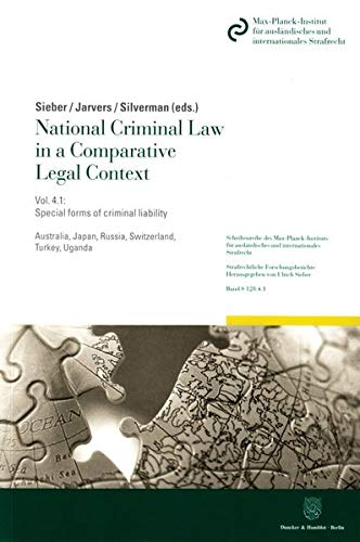 9783428148271: National Criminal Law in a Comparative Legal Context.