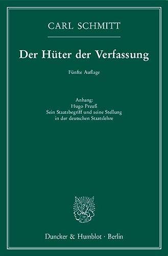 9783428149216: Der Hüter der Verfassung