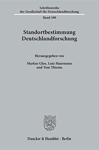Standortbestimmung Deutschlandforschung: Markus Gloe